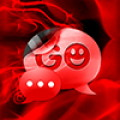 GO SMS Pro Theme Fire Flame - These fiery, red flames come alive on your GO SMS Pro