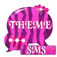 Rosa Zebra GO SMS Tema