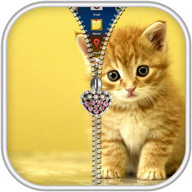 Kitty Cat Zipper Lock Screen