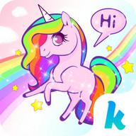 Keyboard - Colorful Unicorn Theme