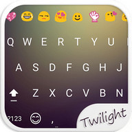 Material Black Emoji Keyboard
