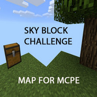 Sky Block map for minecraft PE