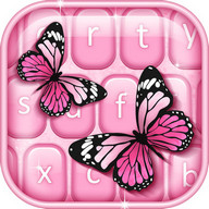 Pink Butterfly Keyboard