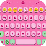 Pink Jelly Emoji Keyboard Skin