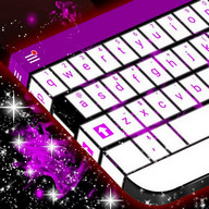 Purple Flame Skin for Keyboard