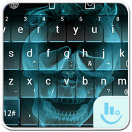 Hell Skull Fire Keyboard Theme