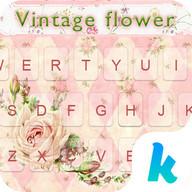 Vintage Flower Keyboard Theme