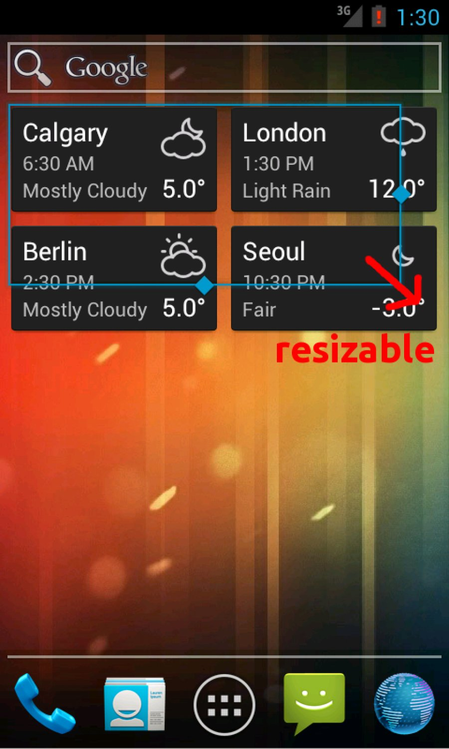 World Clock & Weather Widget