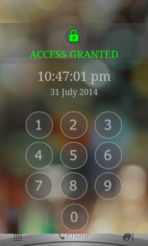 Keypad Screen Lock