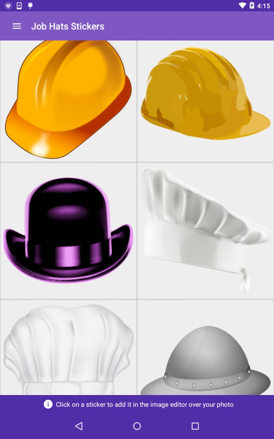 Job Hats Stickers