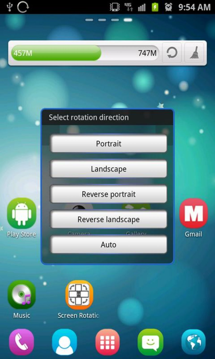 Screen Rotation Control