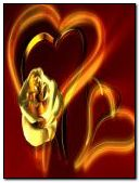 gold rose hearts