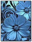 Abst Blue flowers