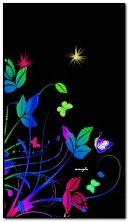 Neon Blumen