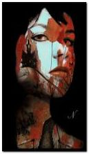 abstrakcyjna twarz