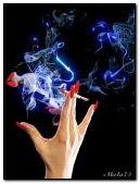 Glamorous smoke break