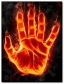 flaming hand