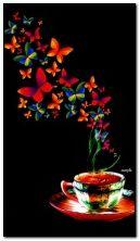 चहा आणि फुलपाखरे