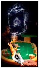 Ace of Spades aus dem Rauch