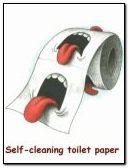 Self cleanin toilet papr