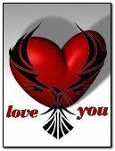 amor corazón rojo