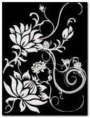 black n white flower art