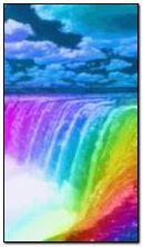 Барвистий водоспад
