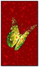 लाल फुलपाखरू चमकणारे