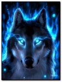 Wilk w niebieskim ogniu