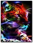 Colorful neon leopard