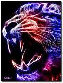 Kolorowy Neonowy Tygrys