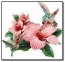 Glitter bird flower