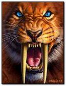 Saber-toothed tiger.