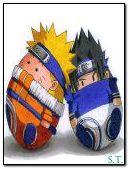Eggheads Naruto and Sasuke