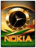 NOKIA GOLD CLOCK