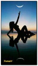 Sea sunset and beautiful women HDO152