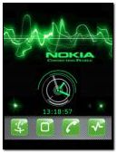 animated green nokia clock
