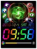 neon color clock