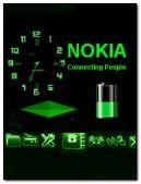 NOKIA green clock