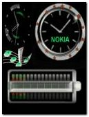 animated nok?a battery clock