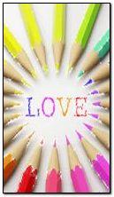cinta berwarna-warni