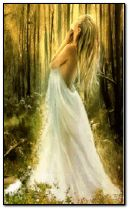 fantasy lady in woods