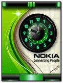 NOKIA animated green clock