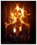 flaming girl