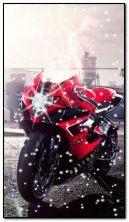 motogp rider and snow