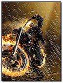 Ghost rider in rain