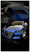blaues Audi