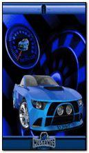 mustan azul