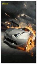 coche ardiendo c6