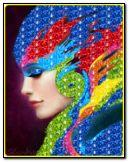 Mädchen mit Farben